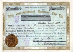International Railway Tie Company 1885