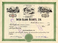 Inter-Island Resorts, Ltd. with Walter D. Child Sr. as President  - Territory of Hawaii 1954