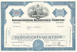 International Resistance Company Stock 1963 (TRW Inc. )
