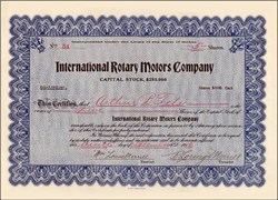 International Rotary Motors Company 1910