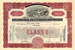 International Safety Razor Corporation - New Jersey 1949