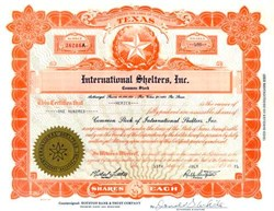International Shelters, Inc. - Texas Star Logo