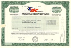 International Speedway Corporation - Florida 1997