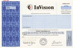 Invision Technologies, Inc. (airport security screening devices )  - Delaware