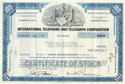 International Telephone and Telegraph Corporation 1970's