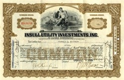 Insull Utility Investment, Inc. 1930's ( Founded by Sam Insull, the Ken Lay of the 1930's )
