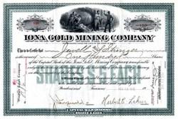 Iona Gold Mining Company - Smuggler, Colorado 1912
