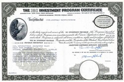 IOS Investment Program Certificate ( Bernie Cornfeld as Chairman) - 1968