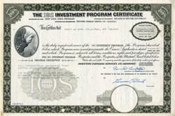 IOS Investment Program Certificate ( Bernie Cornfeld as Chairman) - 1970