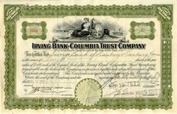 Irving Bank Columbia Trust Company 1923