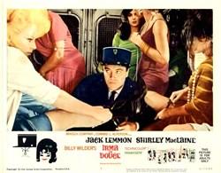 Irma La Douce Lobby Card Starring Jack Lemmon and Shirely MacLaine - 1963