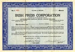 Irish Press Corporation - Delaware 1937