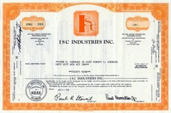 ISC Industries, Inc. - 1970