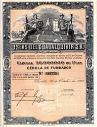 Islas Del Guadalquivir S.A. 1926 - Southern Spain