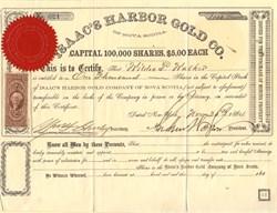 Isaac's Harbor Gold Co. of Nova Scotia  - Nova Scotia 1864