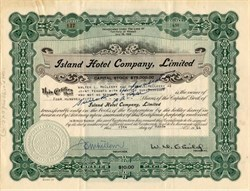Island Hotel Company, Limited - Territory of Hawaii - 1944