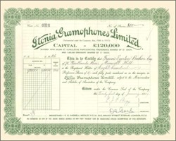 Itonia Gramophones Limited 1929
