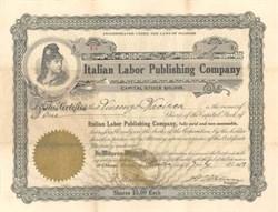 Italian Labor Publishing Company 1913
