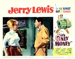 It's Only Money Lobby Card Starring Jerry Lewis - 1962