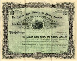 Jackson Butte Mining and Milling Company - Suisun City, California 1899