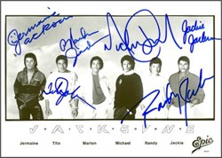 The Jackson 5 Rare Group Signed Photo