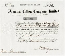 Jamaica Cotton Company Limited - 1862