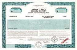 Jasper County School District - Georgia 1991