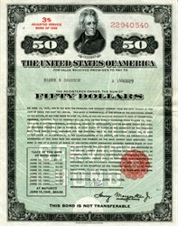 Adjusted Service Bond - United States Savings Bond - Andrew Jackson Vignette 1936
