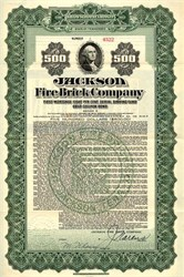 Jackson Fire Brick Company Gold Bond - Tennessee 1921