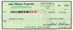 Jack Haley Signed Check ( Tin Man in Wizard of Oz) - Beverly Hills,  California