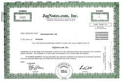 JagNotes.com, Inc. - Nevada 2001