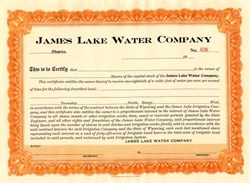 James Lake Water Company - Wyoming