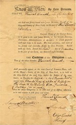 Settlement Payment to Sherriff - New York 1800