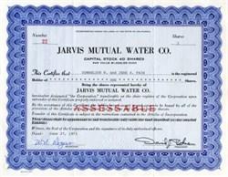 Jarvis Mutual Water Co.- California 1973