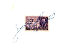 James Russell Wiggins Autograph on 3 Cent Stamp