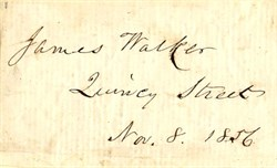 James Walker Autograph - Harvard University, President -  Massachusetts 1856
