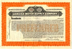 Jamaica Water Supply Company - New York 1925