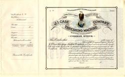 "J.I. Case Threshing Machine Company (Famous ""Old Abe"" Vignette)  - Wisconsin"