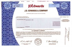J. D. Edwards and Company  ( Acquired by People Soft then Oracle )