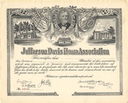 Jefferson Davis Home Association - Kentucky 1907