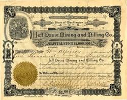 Jeff Davis Mining and Milling Co. - Washington 1897