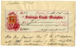 Jefferson Davis Signed Check (Margaret Howell Davis Hayes Signature)   - 1871