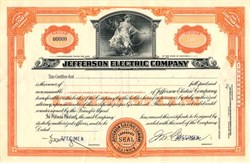 Jefferson Electric Company ( Makers of the famous Golden Hour Clock ) - Illinois