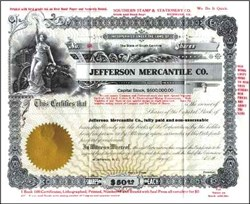 Jefferson Mercantile Company - Early Marketing Piece