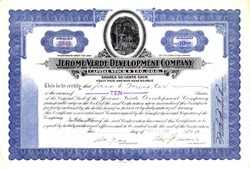 Jerome Verde Development Company - Arizona 1922