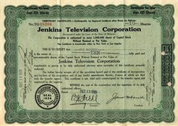 Jenkins Television Corporation (Early TV Pioneer)  - 1929