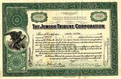 Jewish Tribune Corporation - Delaware 1929