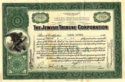 Jewish Tribune Corporation - Delaware 1929