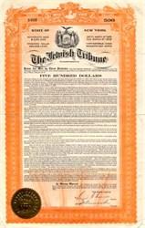Jewish Tribune - New York 1929