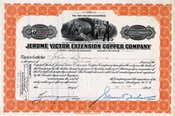 Jerome Victor Extension Copper Company - Jerome, Arizona 1917